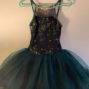 Weissman Hunter Green & Gold Ballet Costume